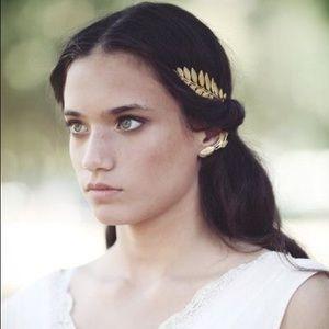 🐘 NWT Gold Reverse Leaves Headband -Rachel Roy 🐘